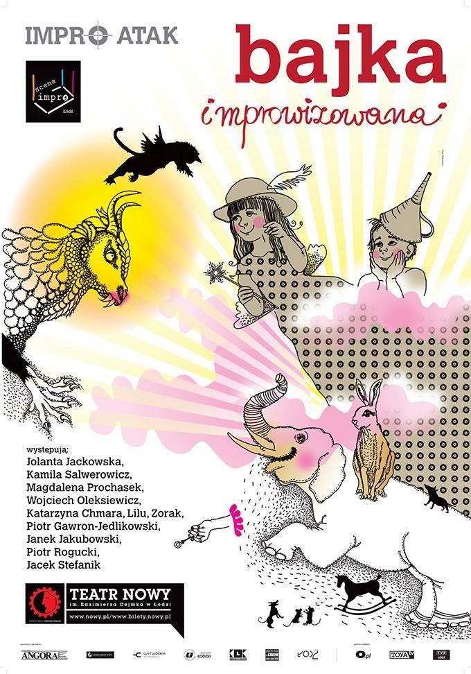 plakat bajka improwizowana premiera 3.04.16